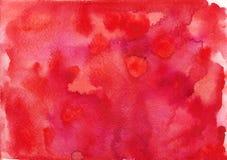 Fondos de papel rojos del franco de la textura de la acuarela fotos de archivo libres de regalías