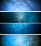 Fondos de textura azules fijados Foto de archivo