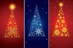Fondos decorativos del árbol de navidad del vector Fotografía de archivo