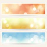 Fondos Defocused de las luces fijados Fotos de archivo libres de regalías