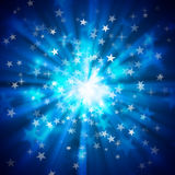 Fondos del bokeh de la estrella ilustración del vector