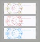 Fondos del color del extracto del techno del vector Imágenes de archivo libres de regalías