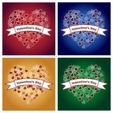 Fondos del día de tarjetas del día de San Valentín Imagenes de archivo