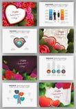 Fondos del día de tarjetas del día de San Valentín fijados Imagen de archivo
