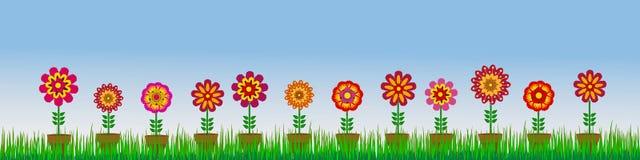 Fondos del ejemplo de la flor y de las abejas stock de ilustración