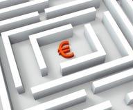 Fondos del euro en Maze Shows Euros Credit Imagen de archivo libre de regalías