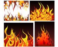 Fondos del fuego fijados Imágenes de archivo libres de regalías