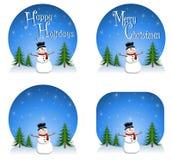 Fondos del muñeco de nieve Imágenes de archivo libres de regalías