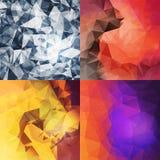 Fondos del triángulo fijados Foto de archivo libre de regalías