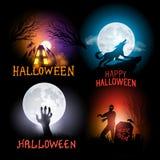 Fondos del vector de Halloween Imagen de archivo