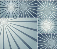 Fondos del vector del resplandor solar Fotos de archivo libres de regalías