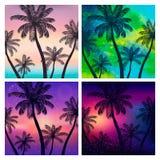 Fondos del verano con las palmas libre illustration