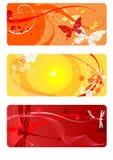 Fondos del verano fijados ilustración del vector