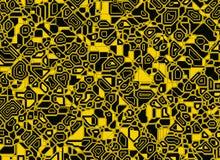 Fondos digitales abstractos futuristas del esquema Imagen de archivo