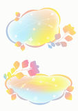 Fondos en colores pastel airosos. Imagenes de archivo