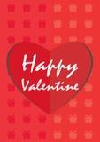 Fondos felices de la tarjeta del día de San Valentín Imagenes de archivo