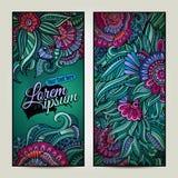 Fondos florales decorativos del vector abstracto Foto de archivo libre de regalías