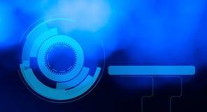Fondos futuristas del extracto de HUD del holograma Imagenes de archivo