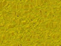 Fondos futuristas digitales de los objetos abstractos del oro Imagen de archivo libre de regalías