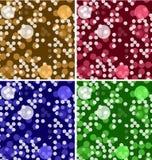 Fondos geométricos modernos coloridos del vector fijados libre illustration