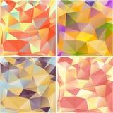 Fondos geométricos multicolores. ilustración del vector
