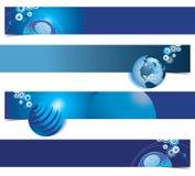 Fondos globales azules stock de ilustración