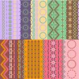 Fondos inconsútiles coloridos Imagenes de archivo