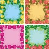 Fondos, marcos de las flores Fotografía de archivo libre de regalías