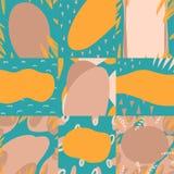 Fondos modernos suaves para el texto en vector en colores azules, beige y amarillos libre illustration