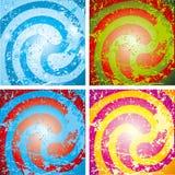 Fondos multicolores abstractos del grunge Fotografía de archivo libre de regalías
