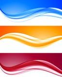 Fondos ondulados coloridos dinámicos abstractos fijados stock de ilustración
