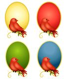 Fondos ovales 2 de los cardenales ilustración del vector
