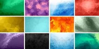 Fondos poligonales Fotos de archivo
