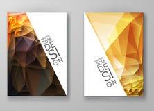 Fondos poligonales multicolores del mosaico del folleto Imágenes de archivo libres de regalías