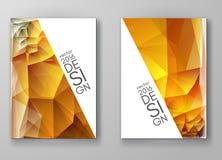 Fondos poligonales multicolores del mosaico del folleto Fotos de archivo