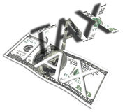 Fondos provenientes de impuestos Fotos de archivo