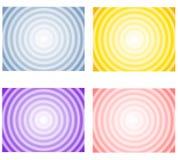 Fondos radiales del resorte del gradiente Foto de archivo libre de regalías