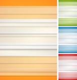 Fondos rayados abstractos fijados Imágenes de archivo libres de regalías