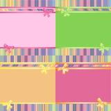 Fondos rayados decorativos del arco iris fijados Imagenes de archivo