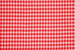 Fondos rojos y blancos del dishtowel Foto de archivo libre de regalías