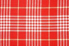 Fondos rojos y blancos del dishtowel Foto de archivo
