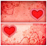 Fondos rosados con el corazón Fotografía de archivo libre de regalías