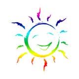 Fondos sonrientes de Joy Shows Template Sunshine And Imágenes de archivo libres de regalías