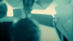 Fondos suaves del extracto del verde de la ciencia ficción del foco almacen de video