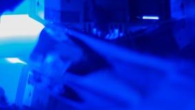Fondos surrealistas suavemente azules de la tecnología metrajes