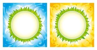 Fondos verdes del vector del planeta Imagen de archivo libre de regalías