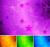 Fondos vibrantes de la estrella Fotos de archivo libres de regalías