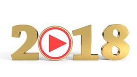 2018 fondos video del concepto, representación 3d Imagen de archivo libre de regalías