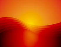 FondoX5_B. Computer generated background of a graceful wave in varying shades of orange and red Stock Illustration