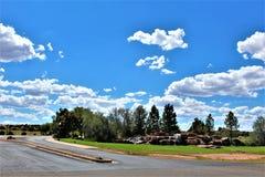 Fonds de tour de rassemblement de liberté du courrier 86 de légion américaine - éleveur en Arizona du nord, Etats-Unis images libres de droits